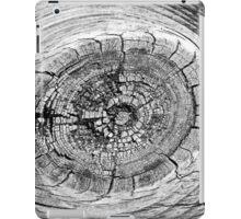 boardwalk abstract 5 BW iPad Case/Skin
