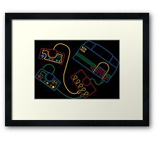 TurboGrafx-16 Icon SFC Style Framed Print