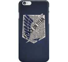 Recon corps Typography iPhone Case/Skin