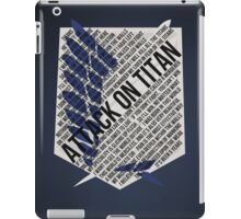 Recon corps Typography iPad Case/Skin