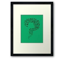 Riddler Bats question mark Framed Print