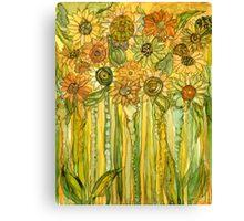 Sunflower Garden Bloomies 1 Canvas Print