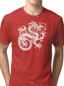 White Dragon Tri-blend T-Shirt