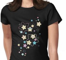 Cute Crazy Pastel Night Stars Womens Fitted T-Shirt