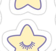 Cute Crazy Pastel Night Stars Sticker