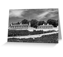 Fort Mackinac BW Greeting Card