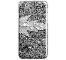 Leaf After Rain 1 BW iPhone Case/Skin