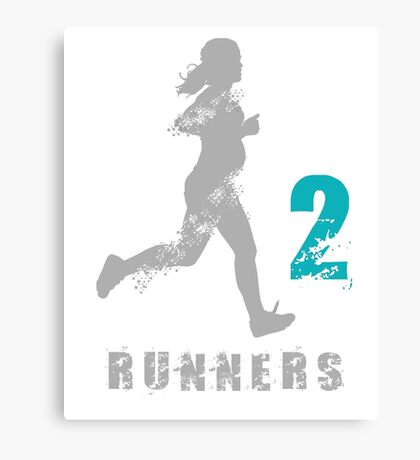 2 runners in 1 Canvas Print