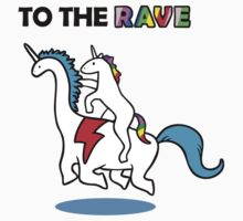 To The Rave! (Unicorn Riding Dinocorn) by jezkemp