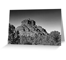 The Bell  2 Red Rock Loop Sedona BW Greeting Card