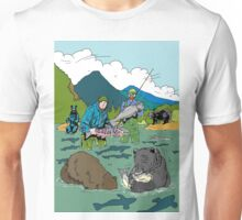 Fishing with the bear Unisex T-Shirt