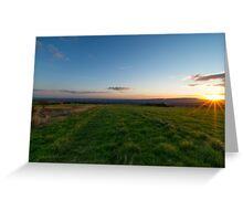 The last Rays Of Sun. Greeting Card