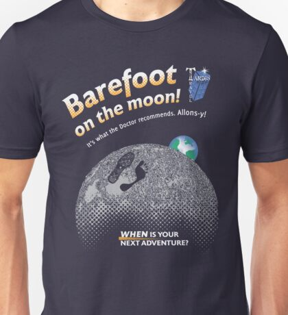 Doctor Who: Barefoot on the Moon Redux Unisex T-Shirt