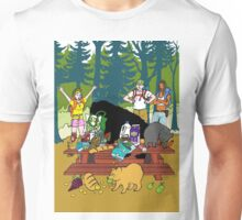 Unexpected guests on a picnic Unisex T-Shirt