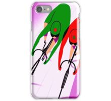 WOMENS TRACK BICYCLE: Racing Print iPhone Case/Skin