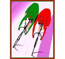 WOMENS TRACK BICYCLE: Racing Print Photographic Print