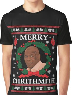 Mike Tyson Merry Chrithmith! Graphic T-Shirt