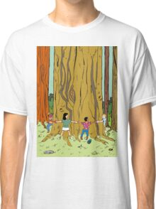 Standing around an ancient tree Classic T-Shirt