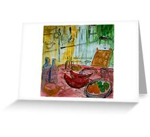 still life with watermelon Greeting Card