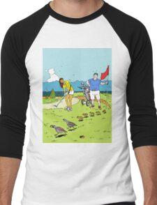 A surprise on the golf course Men's Baseball ¾ T-Shirt