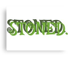 stoned stoner smoke weed marijuana cannabis hippie reggae rasta freedom cool t shirts Canvas Print