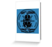 501st clone trooper legion Greeting Card