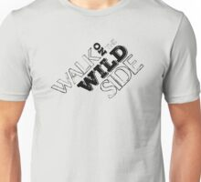 lou reed velvet underground walk on the wild side lyrics song rock n roll guitarist guitar t shirts Unisex T-Shirt