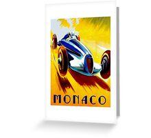 MONACO GRAND PRIX; Auto Racing Advertising Print Greeting Card