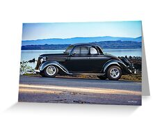 1936 Ford Five-Window Coupe Greeting Card