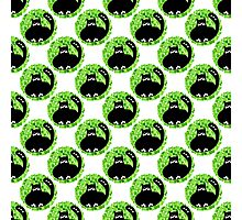 Cartoon seamless pattern with cute black cats Photographic Print