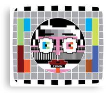 Frank Sidebottom testcard Canvas Print
