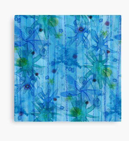 blue anemones Canvas Print