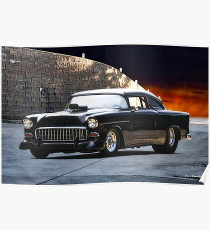 1955 Chevrolet 'One Sinister Chevy' Poster