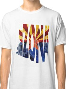Arizona Typographic Map Flag Classic T-Shirt