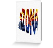 Arizona Typographic Map Flag Greeting Card