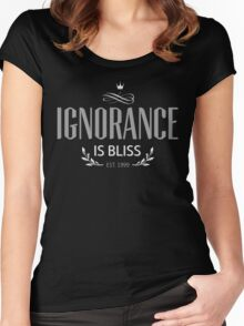 Ignorance Typo Women's Fitted Scoop T-Shirt