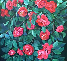 """Camellias, lips and berries"" by Tatyana Binovskaya"