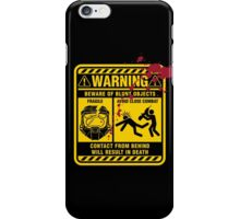 Mjolnir Warning Label iPhone Case/Skin