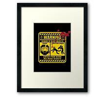 Mjolnir Warning Label Framed Print