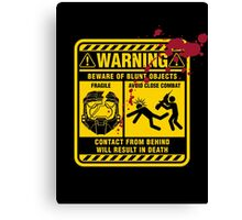 Mjolnir Warning Label Canvas Print