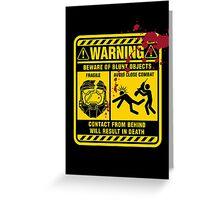 Mjolnir Warning Label Greeting Card