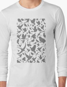 Background of birds3 Long Sleeve T-Shirt