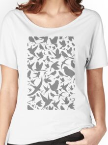 Background of birds3 Women's Relaxed Fit T-Shirt