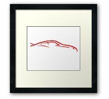 Sport Car Line Framed Print
