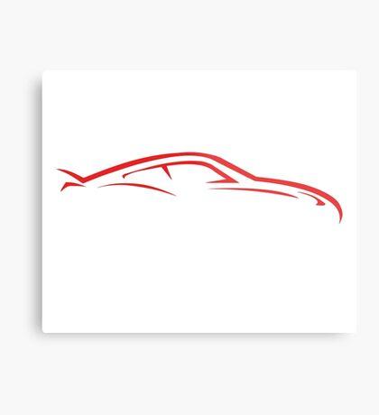 Sport Car Line Metal Print