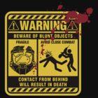 Mjolnir Warning Label by davidj8580