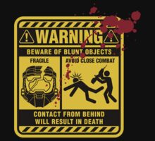 Mjolnir Warning Label by davidj8580