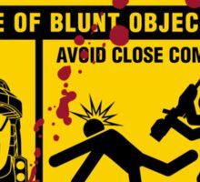 Mjolnir Warning Label Sticker
