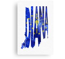 Indiana Typographic Map Flag Metal Print
