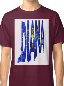 Indiana Typographic Map Flag Classic T-Shirt